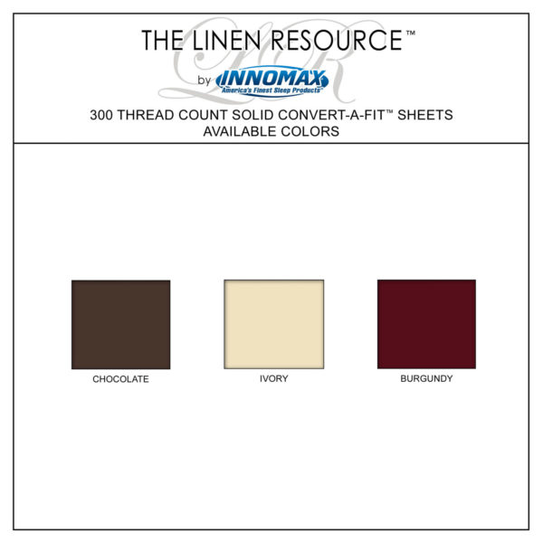 Split 300 Thread Count Sheets Available Colors