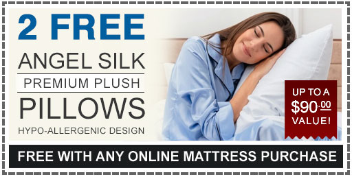 2 Free Pillows With Any American Sleep Mattress Purchase