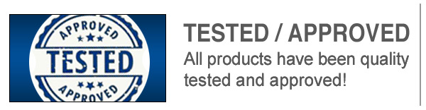 All Products Have Been Tested & Approved