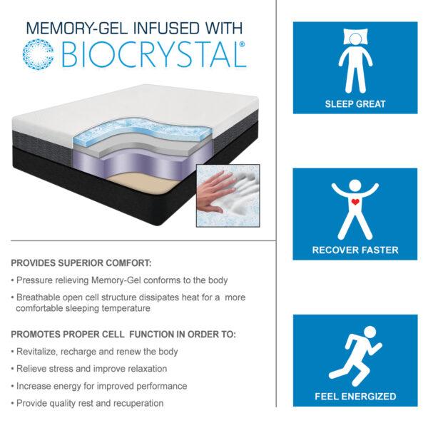Echo - Memory-Gel Infused with Biocrystal Mattress
