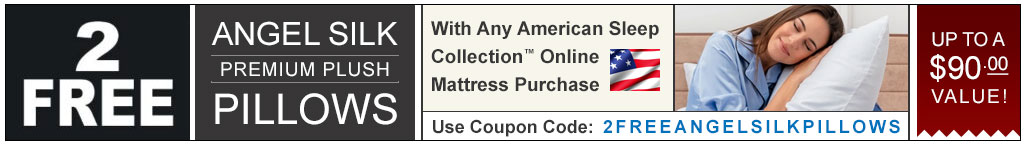 2 Free Pillows With Online Mattress Purchase